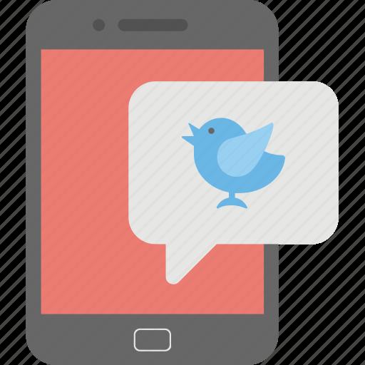 mobile twitter, smartphone, social media, twitter adds, twitter timeline icon