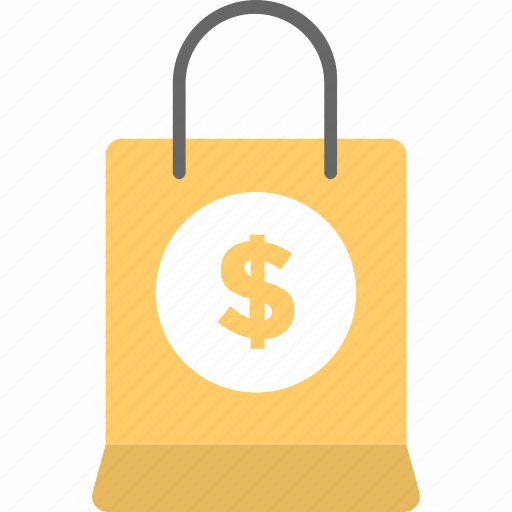 bag, dollar, recyclable bag, shopping, tote icon