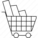 business, cart, shopping, supermarket icon