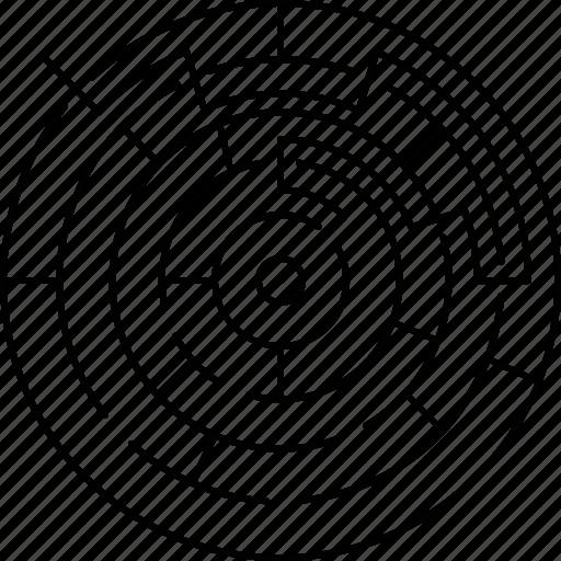 business, map, maze, random icon