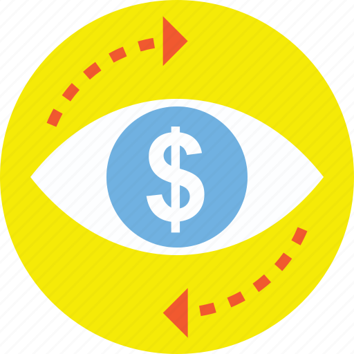 business activity monitoring, business focus, business monitoring, financial evaluation, financial focus icon
