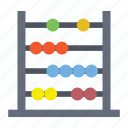 abacus, accounting, calculating, calculating frame, retro mathematics icon