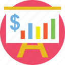 business graph, finance, financial presentation, financial reporting, statistics icon