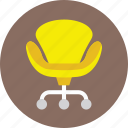 furniture, mesh chair, office chair, revolving chair, seat icon