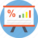 business analysis, business analytics, graph presentation, growth chart, statistics icon
