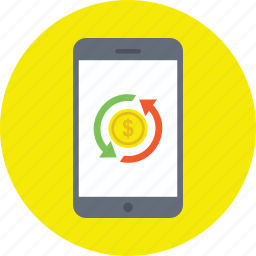 m-commerce, mobile banking, mobile payment, mobile transactions, online banking icon