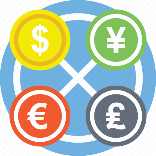 Currency Exchange Foreign Forex Money Market Icon