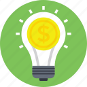 creative marketing, innovation, light bulb marketing, marketing idea, marketing strategy icon