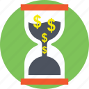 clock with dollars, financial importance, time importance, time is money, time is valuable