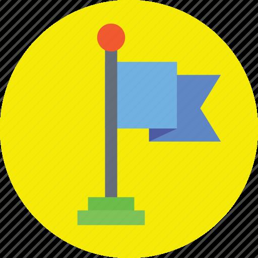 ensign, flag, flag pole, fluttering flag, table flag icon