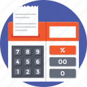 adding, calculation, calculator, device, mathematics icon