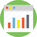 data analysis, seo performance, web analytics, website dashboard, website statistics icon