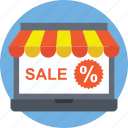 laptop store, online store website, online store. online shop icon