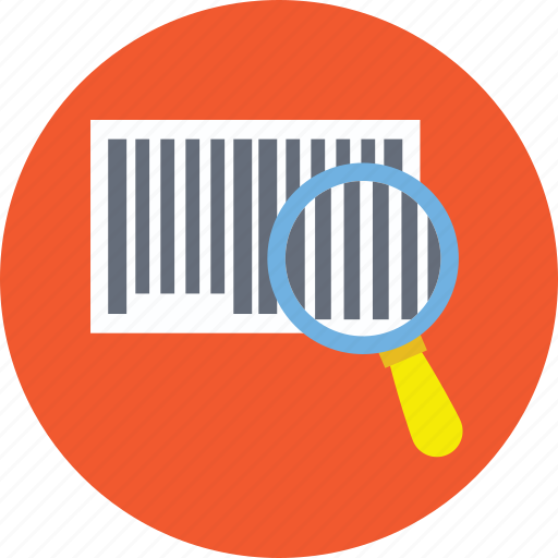 barcode reader, barcode with magnifier, scanning upc code, upc code lookup, upc search icon