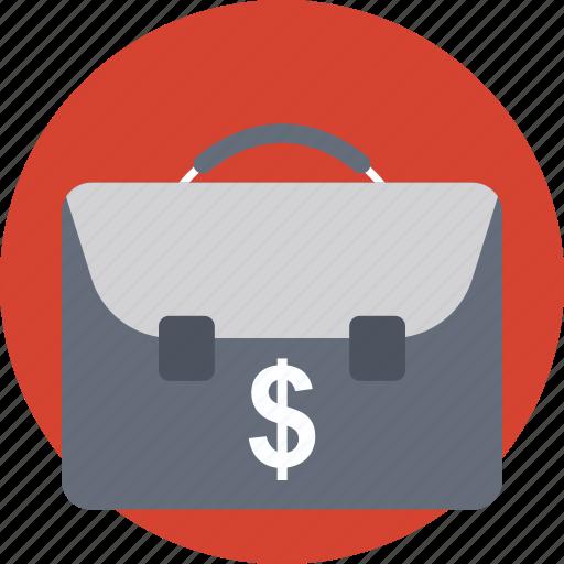 briefcase, business bag, business case, office bag, portfolio bag icon