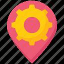 business, gear, location, navigation, pin