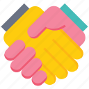 agreement, business, deal, gesture, hand, shake, shake hand icon