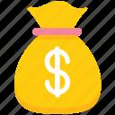 bag, dollar, dollar bag, money icon