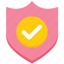 accept, brand, checkmark, complete, safety, security, shield