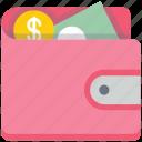 cash, money, money in wallet, purse, wallet