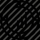 bar, business, chart, graph, infographics, progress icon
