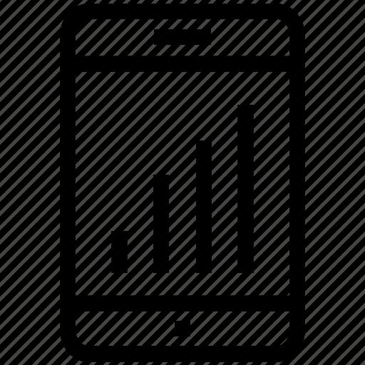 analytics, bars, graph, infographics, mobile icon