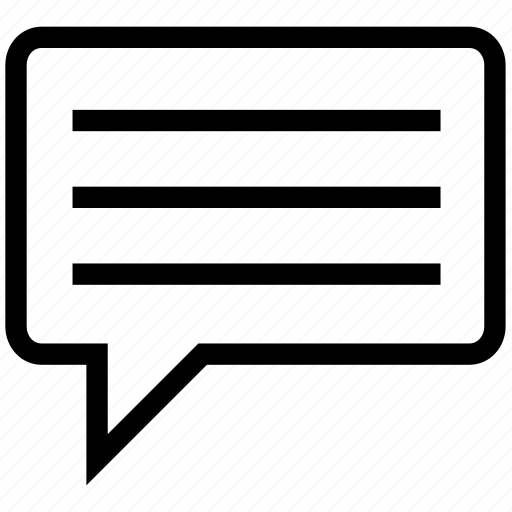 chat, chat bubble, message, sms, speech bubble, text icon