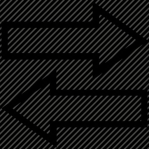 arrows, data sharing, data transferring, left arrow, right arrow icon