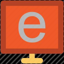 e learning, exploring, internet, internet explorer, internet searching, lcd, led icon