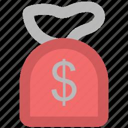 cash, cash bag, dollar, dollar sack, money, money sack, payment, sack of money icon