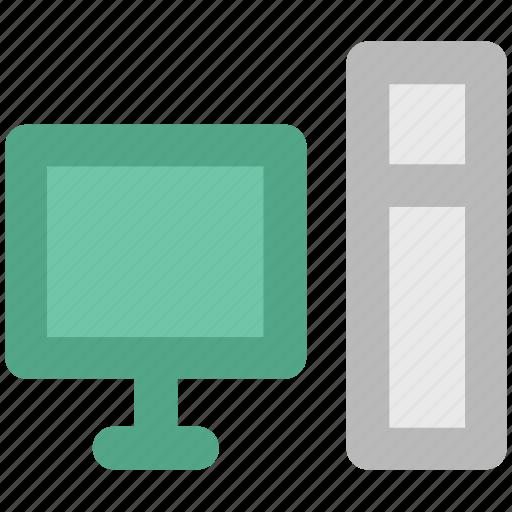 computer, desktop, home computer, micro computer desktop computer, pc, personal computer icon