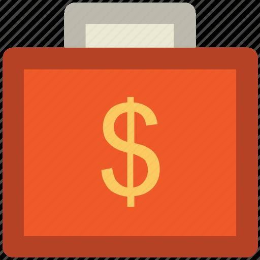 bag, briefcase, business bag, currency bag, portfolio, suitcase icon