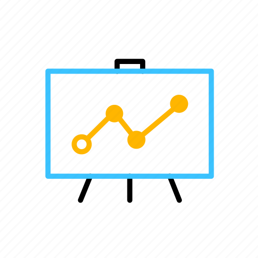 analysis, business, flipchart icon