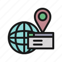 data, global, location, page, search, website, world icon