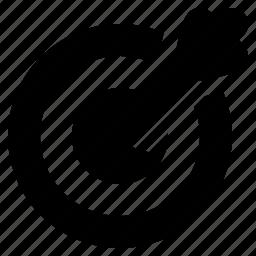 aim, arrow, bullseye, business, goal, marketing, target icon