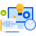 business, development, management, plan, process, project, workflow icon