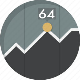 analytics, chart, diagram, graph, report, results, statistics icon