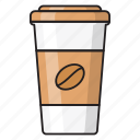 papercup, beverage, beans, coffee, drink icon