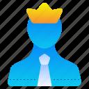 leader, boss, crown, king
