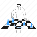 strategy, business, chess, pieces, board, game, play icon