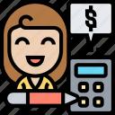 accounting, financial, budget, balance, calculation