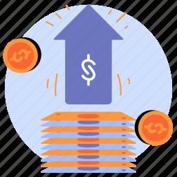 business, finance, raise, increase, money, cash, savings
