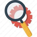 business, magnifier, search, setting, settings icon