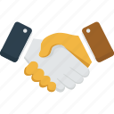 agreement, business, customer, deal, hands, partner, partners, partnership, shaking, shaking hands icon