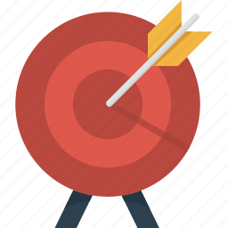 arrow, goal, mission, objective, plan, success, target icon