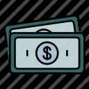 cash, money, currency, revenues