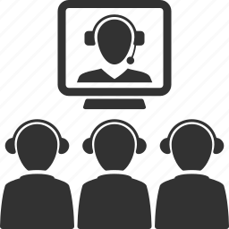 call, communication, internet, team, teamwork, video conference icon