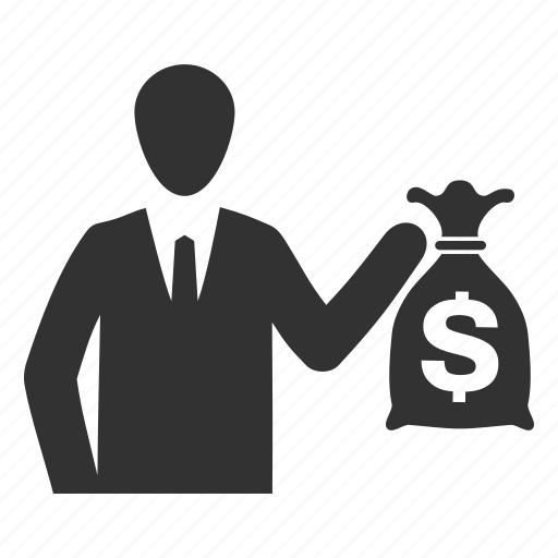 business, finance, investment, money bag icon