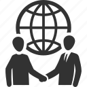 business deal, global business, handshake, partnership icon