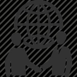 business deal, businessman, global business, handshake, meeting, partnership icon